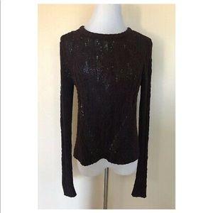 Rachel Roy Burgundy side split sweater